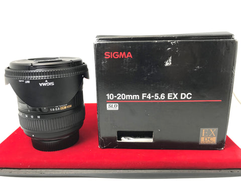 USED- Sigma DC 10-20mm F4-5.6 HSM Lens For (Nikon Mount),95% Like New Condition With Box,S/N:13693552,YL PJ