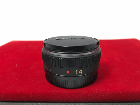 USED- Panasonic Lumix G 14mm F2.5 ASPH Lens,90% Like New Condition,S/N:BR1AB029590,YL PJ