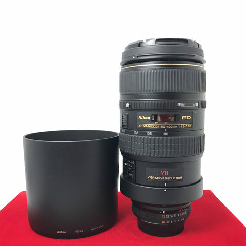 USED-Nikon AF-S 80-400MM F4.5-5.6 VR ED Lens,95% Like New Condition,S/N:436102,YL PJ.