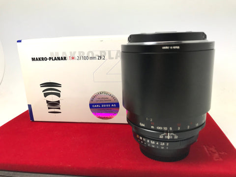 USED- Zeiss Makro-Planar 100mm F2 Lens For (Nikon Mount),95% Like New Condition With Box,S/N:15821705,YL PJ