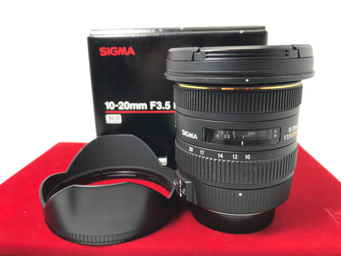 USED- Sigma DC 10-20mm F3.5 HSM Lens For (Nikon Mount),90% Like New Condition With Box,S/N:13318698,YL PJ
