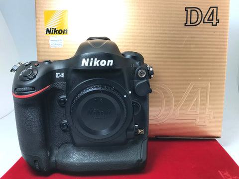 USED- Nikon D4 Body(SC:99K),85% Like New Condition With Box,S/N:2040035,YL PJ