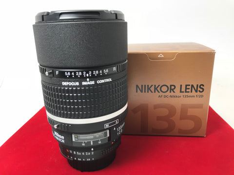 USED- Nikon AF 135mm F2 D Lens,90% Like New Condition With Box,S/N:520125,YL PJ