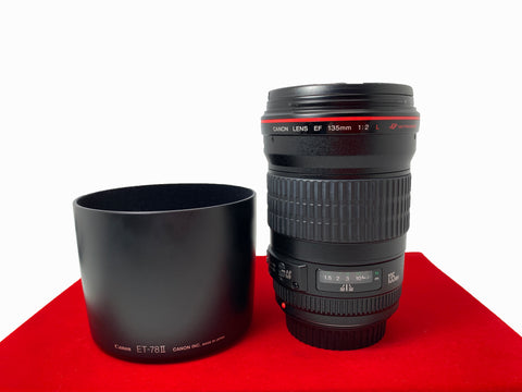 USED-Canon EF 135MM F2 L USM Lens,95% Like New Condition,S/N:203311,YL PJ