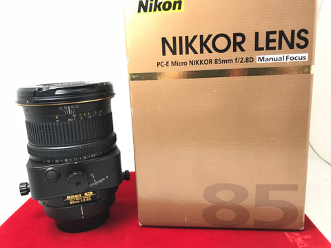 USED- Nikon PC-E Micro 85mm f2.8D Manual Focus Lens,95% Like New Condition With Box,S/N:204164,YL PJ