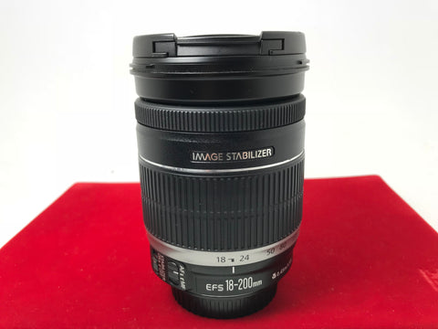 USED- Canon EF-S 18-200mm F3.5-5.6 IS Lens,90% Like New Condition,S/N:0572514629,YL PJ