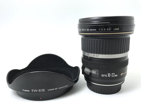 USED- Canon EF-S 10-22mm F3.5-4.5 USM Lens,90% Like New Condition,S/N:80600264,YL PJ
