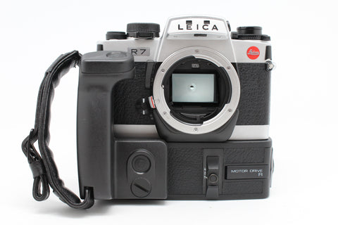 USED- Leica R7 Film Camera with MOTOR DRIVE R, 90% Like New,SN:1924522, YL PUDU