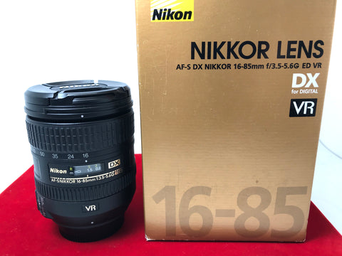 USED- Nikon AF-S 16-85mm F3.5-5.6G ED VR DX Lens,95% Like New Condition With Box,S/N:22168125,YL PJ