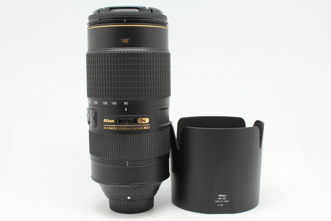 USED- Nikon 80-400mm F4.5-5.6 AFS VR ED N Lens, 95% Like New,SN:232609, YL PUDU