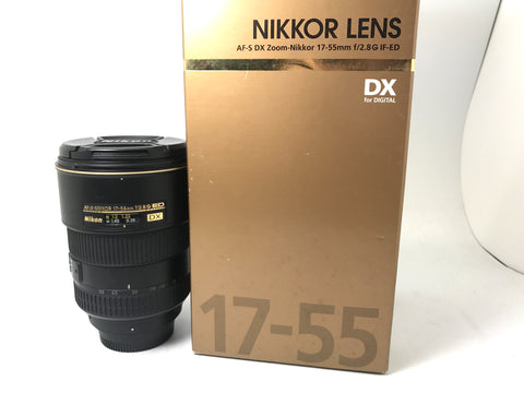 USED- Nikon AF-S 17-55mm F2.8G ED DX Lens.90% Like New Condition With Box,S/N:442761,YL PJ