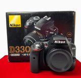 USED-Nikon D3300 Camera Body,80% Like New Condition With Box,S/N:8658541,YL PJ.