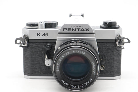 USED- Pentax KM Film Camera Kit, 90% Like New,SN:8443272, YL PUDU