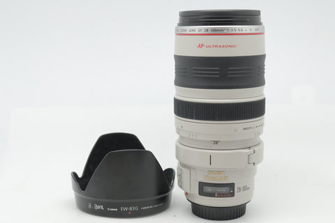 USED- Canon 28-300mm F3.5-5.6 EF L IS USM Lens, 90% Like New,SN:70080, YL PUDU
