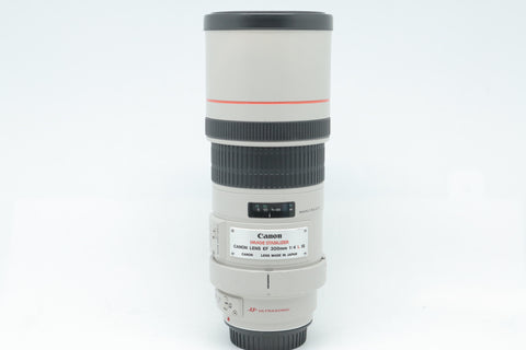 USED- Canon 300mm F4 EF IS L USM Lens, 88% Like New,SN:108148, YL PUDU