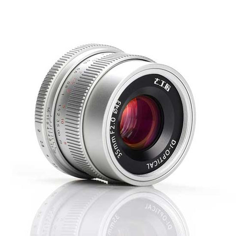 7artisans 35mm F2.0 (Silver – For Micro Four Thirds)