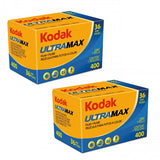 Kodak UltraMax 400 Color Negative Film (35mm Roll Film) - 2 Packs Film