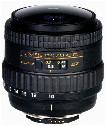 Tokina AT-X 10-17mm f/3.5-4.5 DX NH Fisheye AF (Canon)