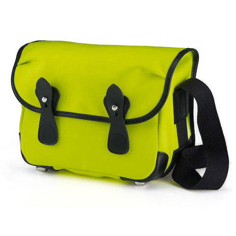 Billingham L2 Shoulder Bag (Neon Yellow With Black Leather Trim)