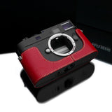 Gariz Leica M8/M9/Monochrome Black Label Leather Camera Half Case (Red)