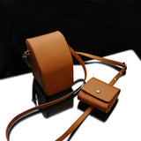 Gariz Leather Camera Pouch (Light Brown)