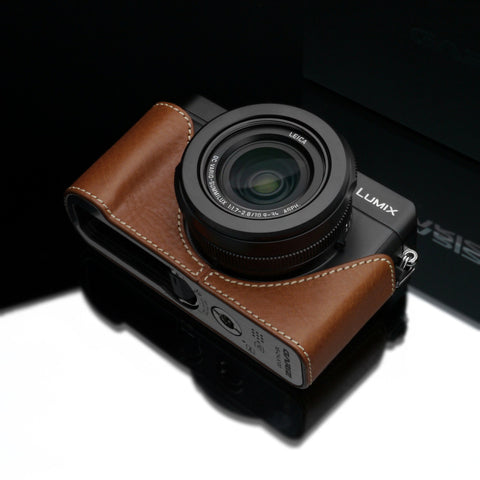 Gariz Panasonic LX100 Leather Camera Half Case (Camel)