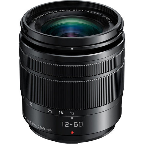 Panasonic Lumix G Vario 12-60mm f/3.5-5.6 ASPH. Power O.I.S. (Black)