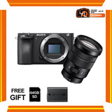 (April PWP Offer) Sony A6500 + E PZ 18-105mm f/4 G OSS (FREE Sony 64GB SD Card + NP-FW50 Battery)