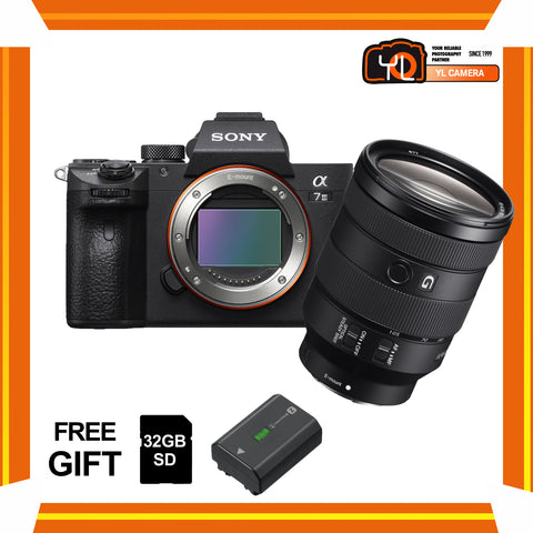 (April PWP Offer) Sony A7 Mark III + FE 24-105mm f/4 G OSS (FREE Sony 32GB SD Card + NP-FZ100 Battery)