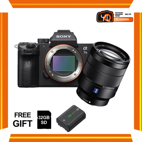 (April PWP Offer) Sony A7 Mark III + FE 24-70mm f/4 ZA OSS (FREE Sony 32GB SD Card + NP-FZ100 Battery)