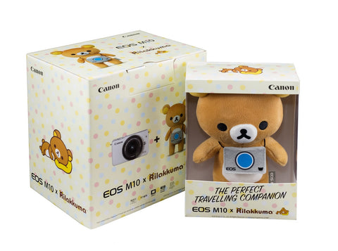 (DISCONTINUED) Canon EOS-M10 + EF-M 15-45mm f/3.5-6.3 IS STM Lens + EF-M 55-200mm f/4-5.6 IS STM Lens (White – RILAKKUMA)