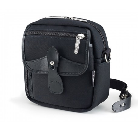 Billingham Stowaway Pola Shoulder Bag (Black with Black Leather Trim)