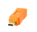TetherPro USB 2.0 Mini-B 8-Pin Cable (1ft/30cm) [Orange] – CU8001-ORG