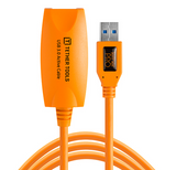TetherPro USB 3.0 SuperSpeed Active Extension cable (16ft/5m) [Orange] – CU3017