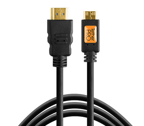 TetherPro HDMI Mini – HDMI Cable (6ft/1.8m) [Black] – TPHDCA6