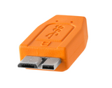 TetherPro USB 3.0 SuperSpeed Micro-B Cable (1ft/30cm) [Orange] – CU5404ORG