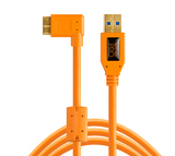 TetherPro USB 3.0 SuperSpeed Micro-B Right Angle Cable (15ft/4.6m) [Orange] – CU61RT15-ORG