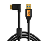 TetherPro USB 3.0 SuperSpeed Micro-B Right Angle Cable (15ft/4.6m) [Black] – CU61RT15-BLK