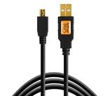 TetherPro USB 2.0 Mini-B 5-Pin Cable (15ft/4.6m) [Black] – CU5450