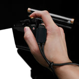 Gariz Mirrorless Camera Wrist Strap (Black + Black)