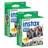 (SALE) Fujifilm Instax WIDE Instant Plain Film (20 Shots) – Twin Pack [2 Boxes]