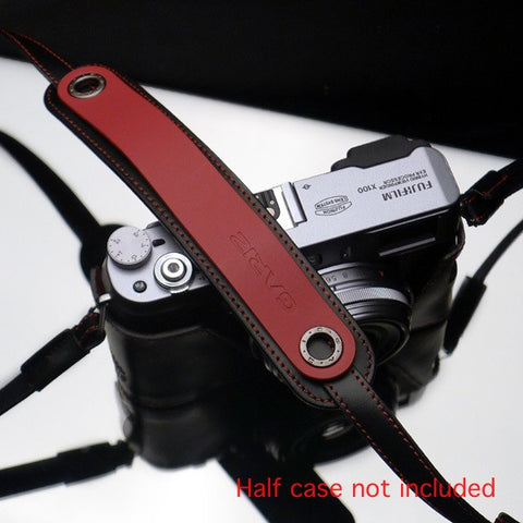 Gariz MirrorLess Camera Neck Strap (Red + Black)