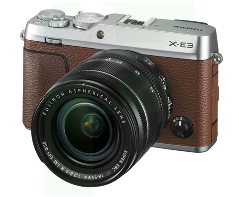 (SALE) Fujifilm X-E3 (Brown) + XF 18-55mm f/2.8-4R LM OIS [Free 32GB SD Card]