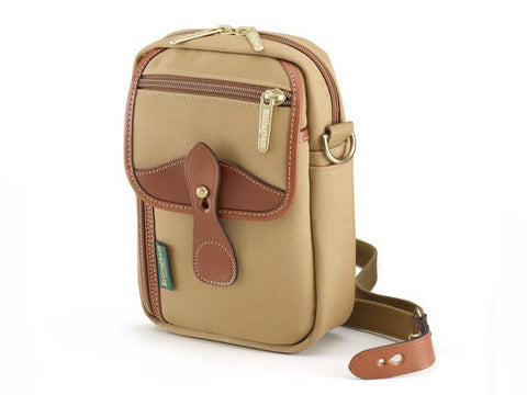 Billingham Stowaway Airline Shoulder Bag (Khaki with Tan Leather Trim)
