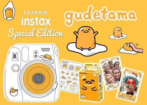 Fujifilm Instax Mini 8 Instant Film Camera (Gudetama – Limited Edition) + Fujifilm Instax Mini Color (Gudetama – Limited Edition 10 Shots) – Single Pack