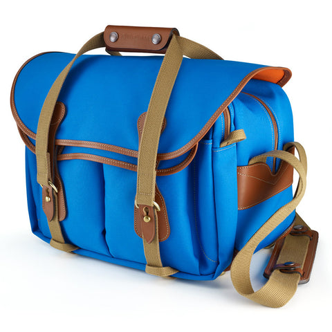 Billingham 225 Shoulder Bag (Imperial Blue With Tan Leather Trim)