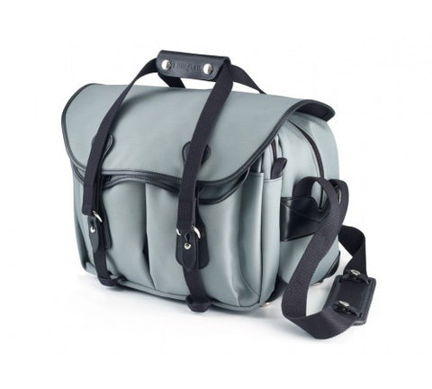 Billingham 335 Shoulder Bag (Grey With Black Leather Trim)