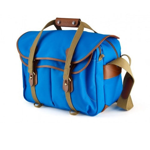 Billingham 445 Shoulder Bag (Imperial Blue With Tan Leather Trim)