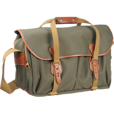 Billingham 555 Shoulder Bag (Sage FibreNyte With Tan Leather Trim)