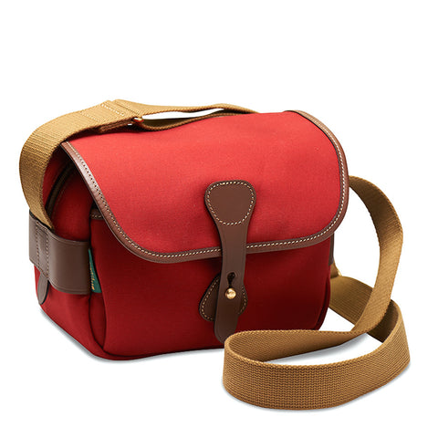 Billingham S2 Shoulder Bag (Burgundy Canvas / Chocolate Leather Trim)